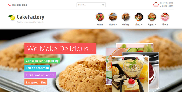 Food & Restaurants Templates | Bootstrap Themes | Bootstrapian